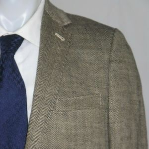 J. Crew Ludlow Linen Herringbone Two Button Blazer
